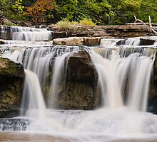Upper Catarct Falls Pours trhough Boulders by Kenneth Keifer
