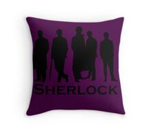 Sherlock Cast Silhouette Poster Throw Pillow