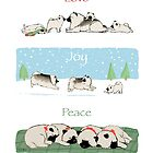 Keeshond Dogs Love Joy Peace by Jenn Inashvili