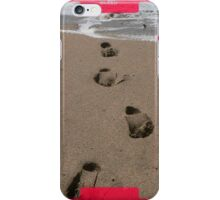 iphone, footprints in the sand. iPhone Case/Skin