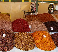 Dried fruit in Marrakesh by Ian Fegent