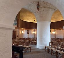 Inside Sankt Ols Kirke on Bornholm by Mark Prior