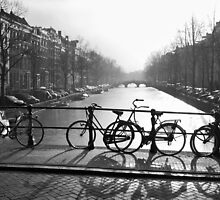 Bicycles on the Bridge by Mieke Boynton