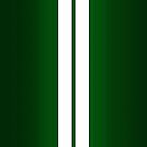 British Racing Green Car Stripes by Alisdair Binning