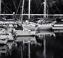 Boats at Peel Harbour by Sammie Caine