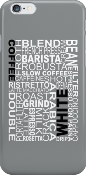 White coffee...WORD!! by Barista