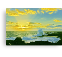 Waves of Morning Rays Canvas Print