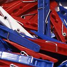 Patriotic Pegs by Paul Holman