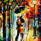 DANCE UNDER THE RAIN - LEONID AFREMOV by Leonid  Afremov