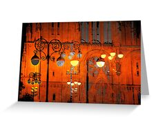 The Essence of Croatia - Zagreb Night Lights Greeting Card