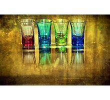 Four Vodka Glasses Photographic Print