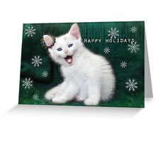 Catching Snowflakes ..Happy Holidays Greeting Card