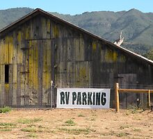 Old barn with RV parking by Martha Sherman