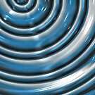 Metallic Blue Spiral Abstract I-Phone Case  by Rajee