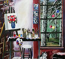 'Casual Observances (View from the Artist's Studio') by Jerry Kirk