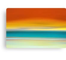 Crack of Dawn over the Beach Canvas Print