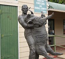 Memorial of Jackie Howe famous wool shearer at Blackall, cent. Que. by Rita Blom