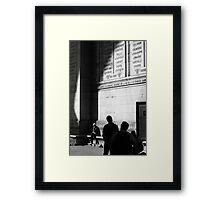 Trying not to Arc up ... Framed Print