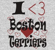 I <3 Boston Terriers Kids Clothes