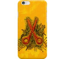 tribal scissors iPhone Case/Skin