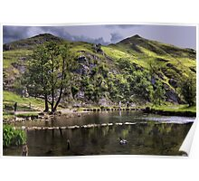 River Dove at Dovedale Poster