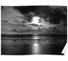 Evening on the beach 2 (Mono) Poster