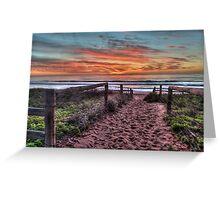 Daybreak - Newport Beach,Sydney Australia - THe HDR Experience Greeting Card