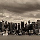 New York City view from Weehawken NJ by Peter O'Hara
