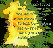 Infidelity - The Language Of Flowers Greetings Card by MagsWilliamson
