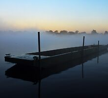 Barge on thames by Doug McRae