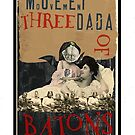 Dada Tarot- Three of Batons by Peter Simpson