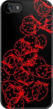 strawberries, iPhone case, by Gréta Thórsdóttir