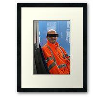 USO Unidentified Sitting Object Framed Print
