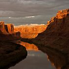 Afternoon Reflection, Labyrinth Canyon by Brian Healy Photography
