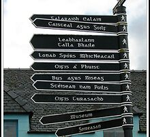 Signpost in Gaelic, Stornoway, Isle of Lewis, Scotland by BlueMoonRose