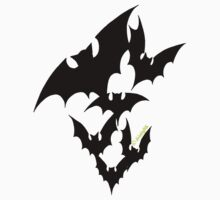 Going Batty (black) by divinityINK
