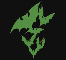 Going Batty (green) by divinityINK