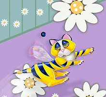 Bee I Kitty, Iphone case, by Alma Lee by Alma Lee