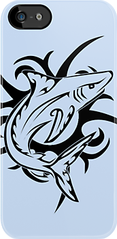 Tribal Shark 3 by Rhonda Blais