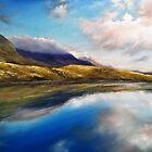 Connemara Mountain lake... pastel 34x27cm by Roman Burgan