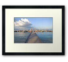 Hardicurrari Wharf Palm Beach Aruba  Framed Print