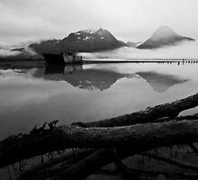 Old Valdz Townsight  - Alaska  by Melissa Seaback