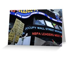 Occupy Wall Street Goes Worldwide October 15 2011  Greeting Card