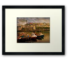 Fishing Boats at Brixham Framed Print