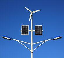 Street lamp on renewable energy by Johan Sangberg