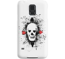 Poker skull with splater all over Samsung Galaxy Case/Skin
