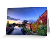 Loughborough Canal Sunset  Greeting Card