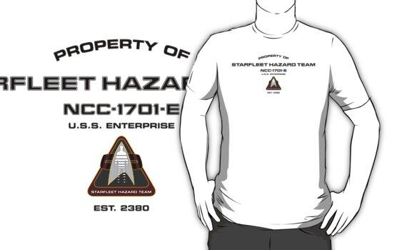 Property of Hazard Team Enterprise-E Hull Markings Version by Christopher Bunye