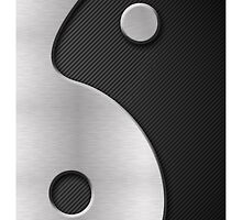 Abstract Yin Yang Carbon and Steel by avdesigns