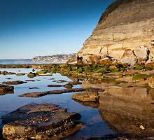 Reflections Bar Beach Cliff by RGA Photography